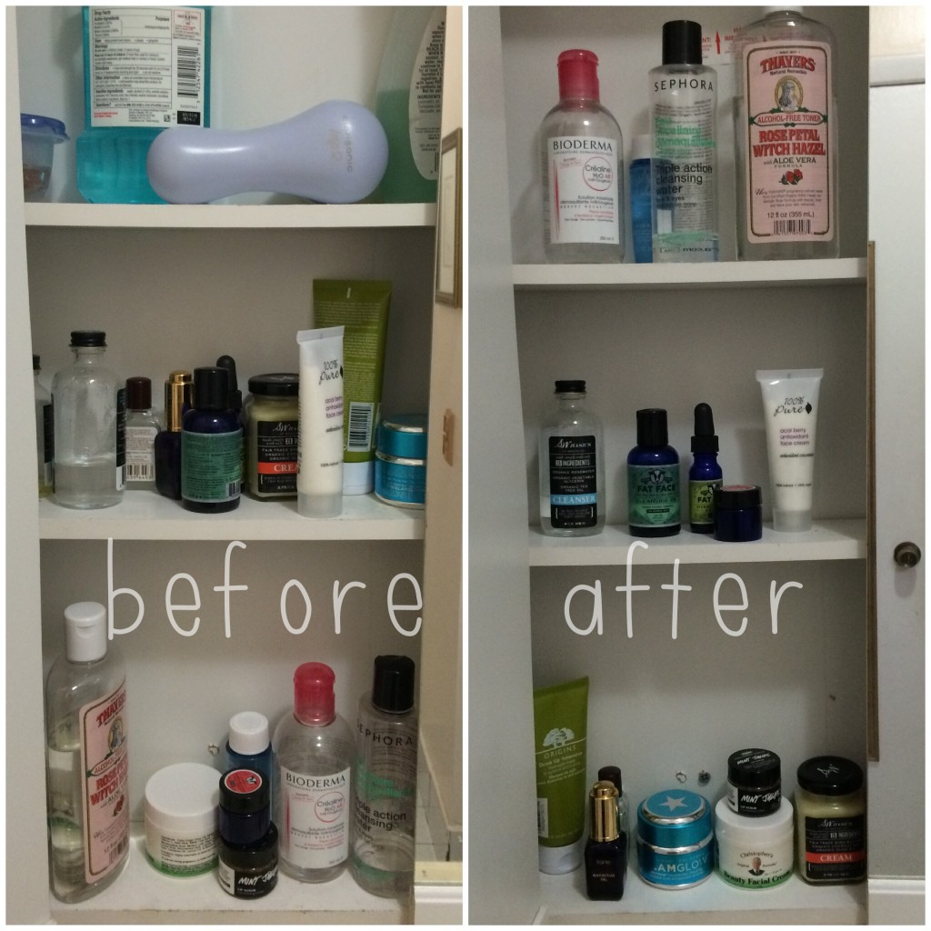 Quick Fix : Bathroom Cabinet Organization