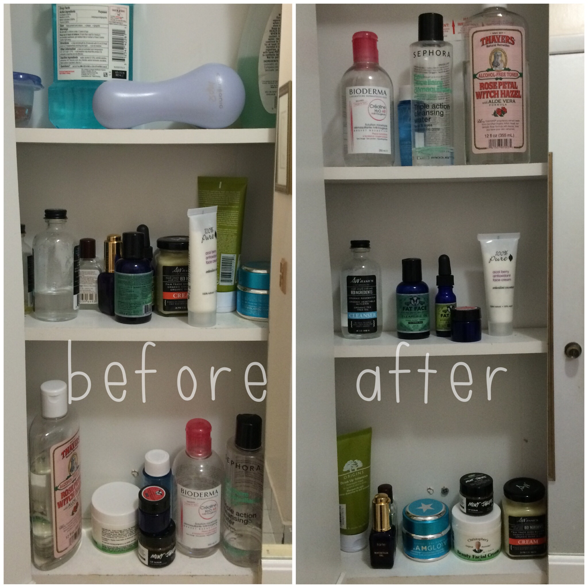 Quick Fix : Bathroom Cabinet Organization - Let\'s Fall in Love