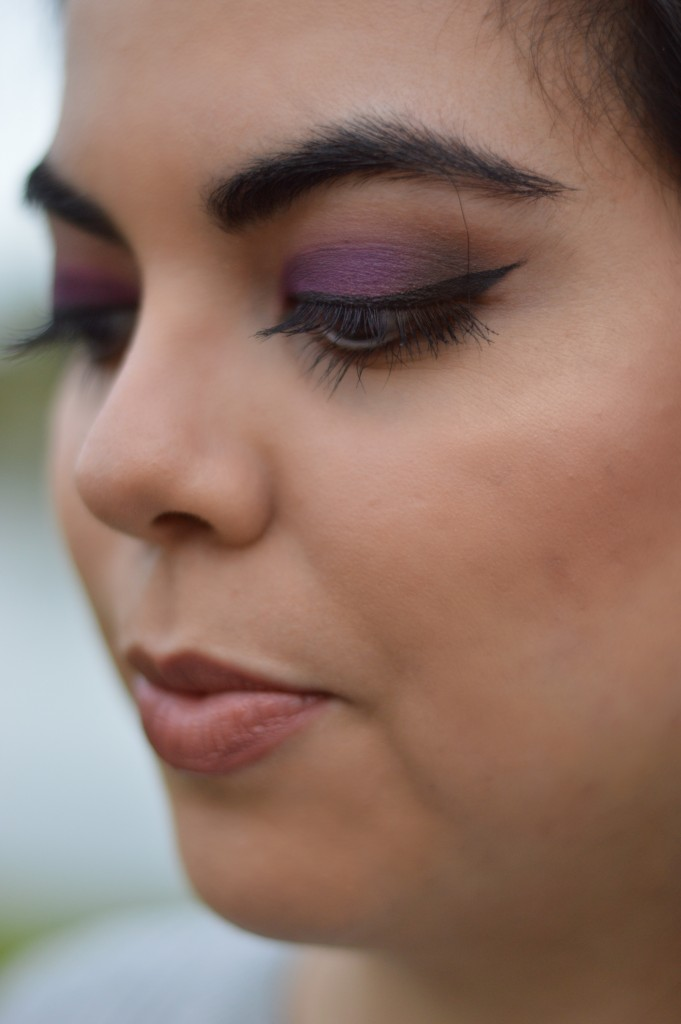 Matte Purple Smokey Eye - Let's Fall in Love Blog