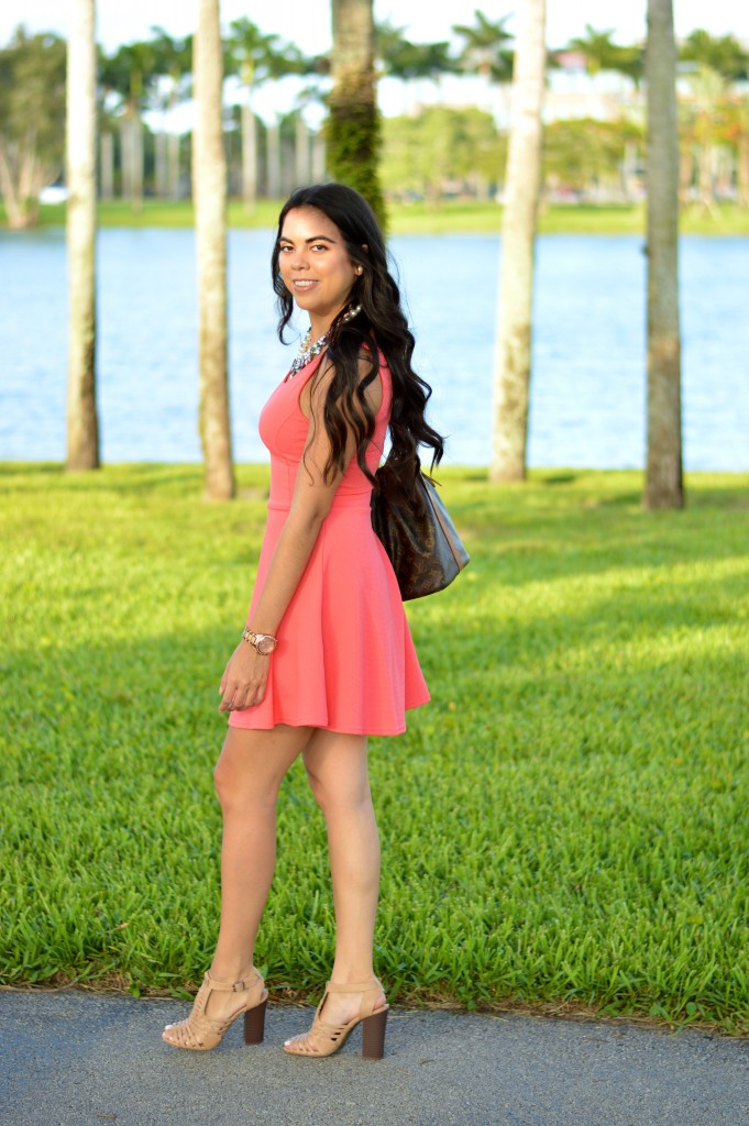 Little Coral Dress - Let's Fall in Love Blog